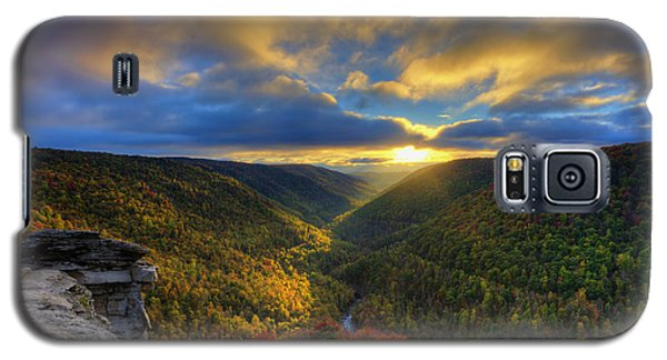 A Blue And Gold Sunset Galaxy S5 Case