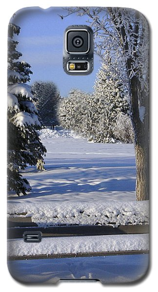Galaxy S5 Case featuring the photograph A Blue Christmas Without You by Rhonda McDougall