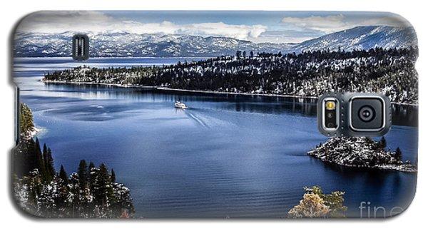A Bluebird Day At Emerald Bay Galaxy S5 Case by Mitch Shindelbower