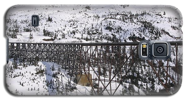 Galaxy S5 Case featuring the photograph A Bridge In Alaska by Brian Williamson