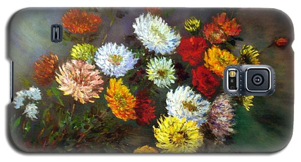 Galaxy S5 Case featuring the painting A Bunch Of Flowers by Laila Awad Jamaleldin