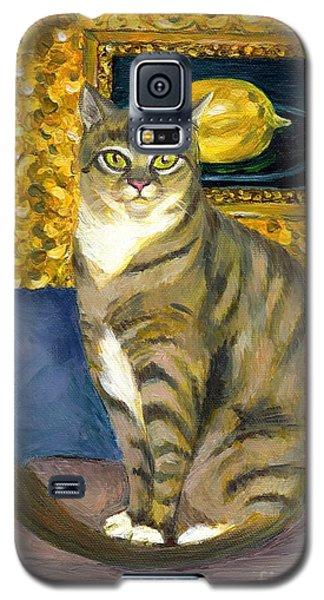 A Cat And Eduard Manet's The Lemon Galaxy S5 Case by Jingfen Hwu
