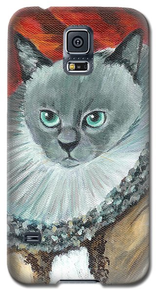 Galaxy S5 Case featuring the painting A Cat Of Peter Paul Rubens Style by Jingfen Hwu