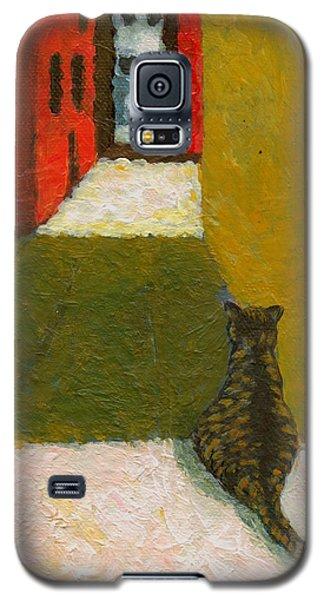 A Cat Waiting For Someone's Return Galaxy S5 Case by Jingfen Hwu