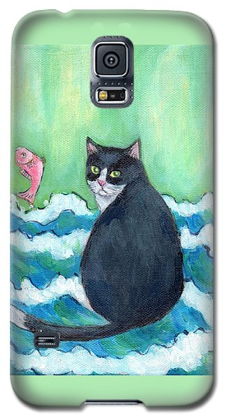 Galaxy S5 Case featuring the painting A Cat's Dream Interior Design by Jingfen Hwu