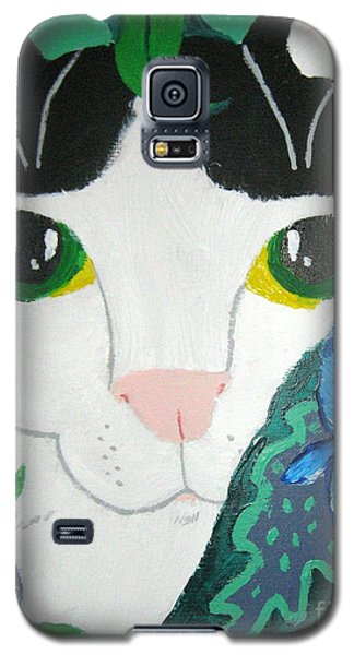Galaxy S5 Case featuring the painting A Cat's Fancy by Wendy Coulson