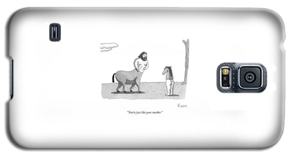 A Centaur Angrily Talks To A Creature Who Galaxy S5 Case
