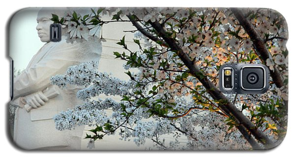 Galaxy S5 Case featuring the photograph A Cherry Blossomed Martin Luther King by Cora Wandel