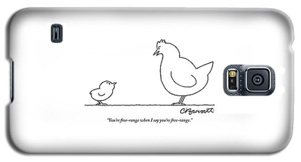 A Chicken Tells Her Baby Chick Galaxy S5 Case