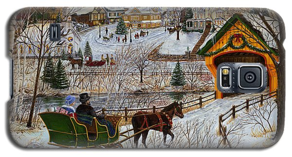 A Christmas Sleigh Ride Galaxy S5 Case by Doug Kreuger