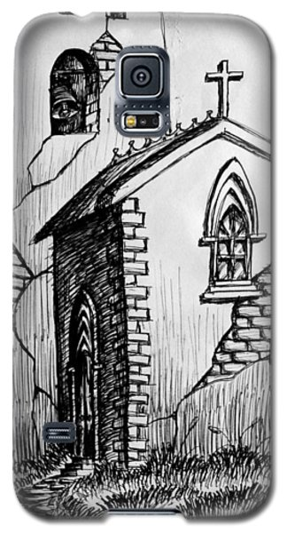 Galaxy S5 Case featuring the painting Old Church by Salman Ravish