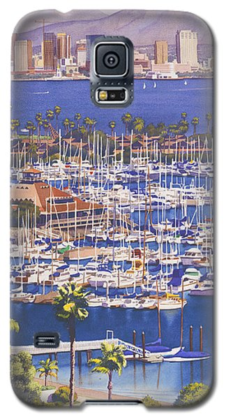 City Scenes Galaxy S5 Case - A Clear Day In San Diego by Mary Helmreich