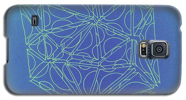 Galaxy S5 Case featuring the drawing A Closed Case In Blue by Nancy Kane Chapman