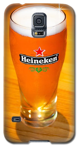 A Cold Refreshing Pint Of Heineken Lager Galaxy S5 Case by Semmick Photo