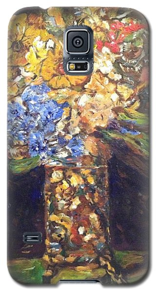 Galaxy S5 Case featuring the painting A Colorful Sun-day by Belinda Low