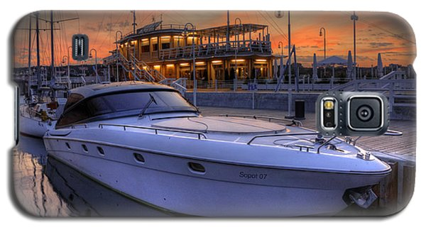 A Cool Motorboat Yacht In Sopot Marina Galaxy S5 Case