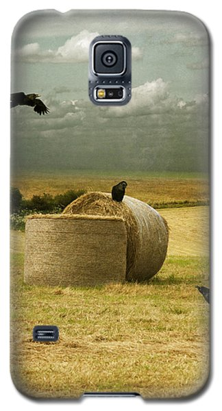 Galaxy S5 Case featuring the photograph A Counrty Hay Field by Ethiriel  Photography