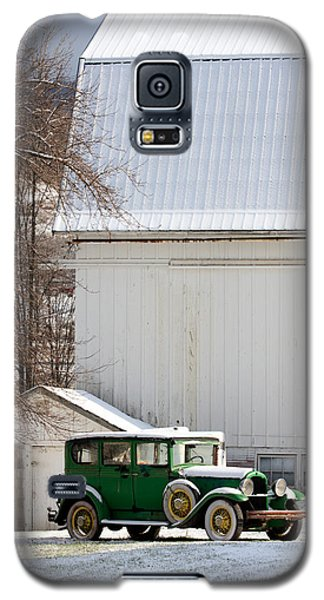 A Country Landscape With Classic Car Galaxy S5 Case by Karen Lee Ensley