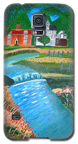 Galaxy S5 Case featuring the painting A Country Stream by Magdalena Frohnsdorff