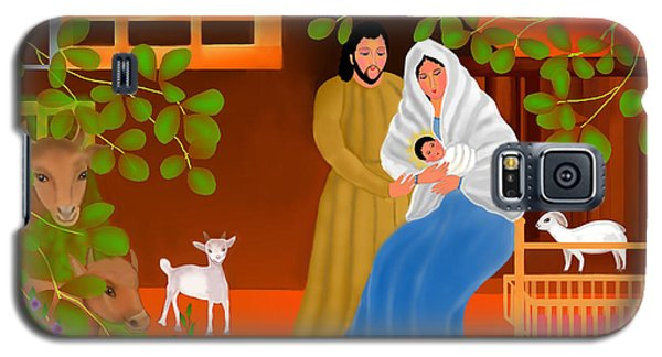 Galaxy S5 Case featuring the digital art A Cradle In Bethlehem by Latha Gokuldas Panicker