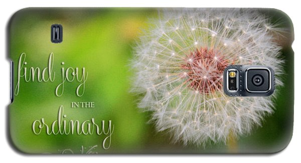 A Dandy Dandelion With Message Galaxy S5 Case