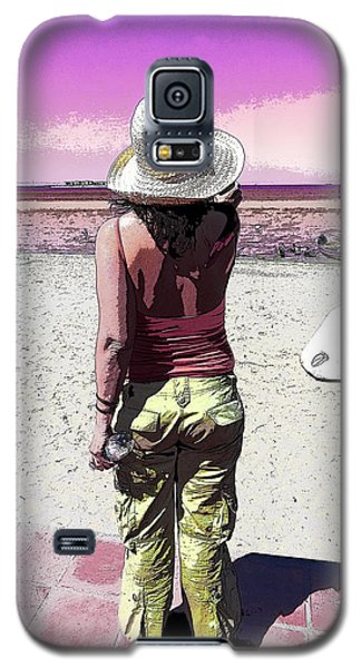A Day At The Beach Galaxy S5 Case by Anne Mott