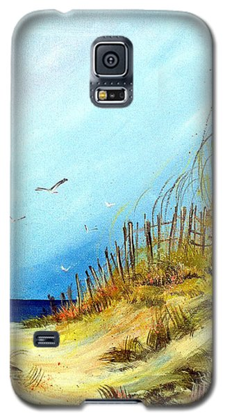 Galaxy S5 Case featuring the painting A Day At The Ocean by Dorothy Maier