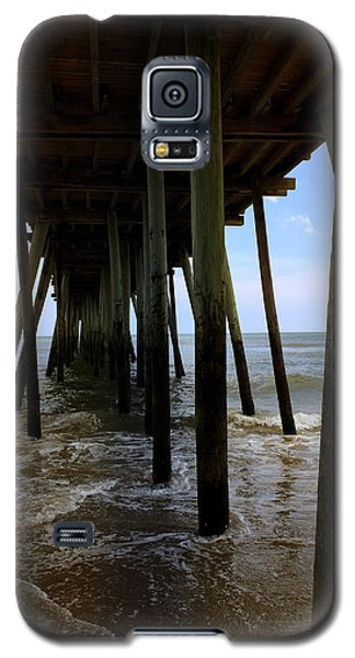 Galaxy S5 Case featuring the pyrography A Day At Virginia Beach by Rebecca Davis
