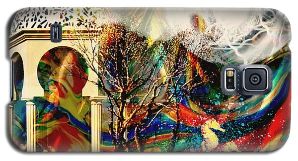 Galaxy S5 Case featuring the mixed media A Day In The Park by Ally  White