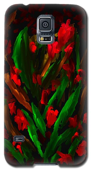 Galaxy S5 Case featuring the painting A Day Of Red by Steven Lebron Langston