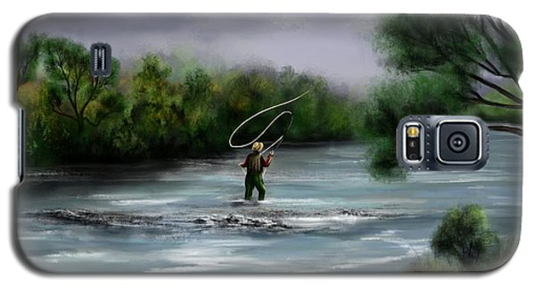 A Day On The Stream - Flyfishing Galaxy S5 Case