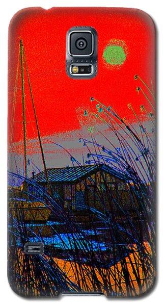 A Digital Marina Sunset Galaxy S5 Case