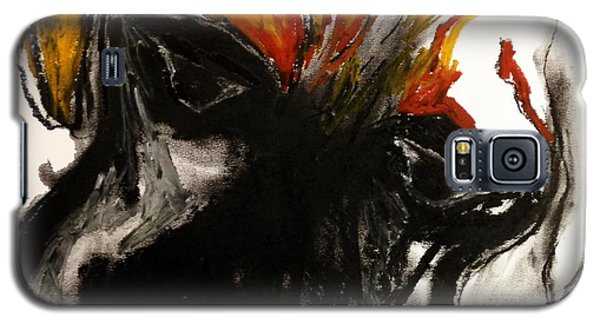 Galaxy S5 Case featuring the drawing A Dog Called Flame by Helen Syron
