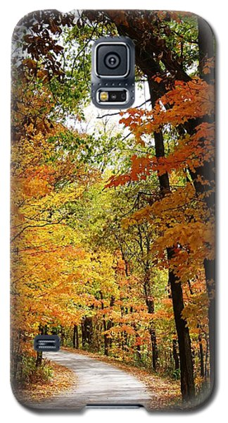 Galaxy S5 Case featuring the photograph A Drive Through The Woods by Bruce Bley