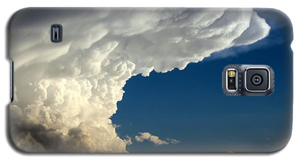 Galaxy S5 Case featuring the photograph A Face In The Clouds by Barbara Chichester