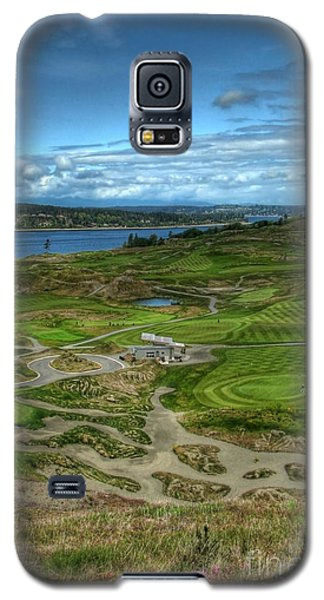 Galaxy S5 Case featuring the photograph A Fairway To Heaven - Chambers Bay Golf Course by Chris Anderson