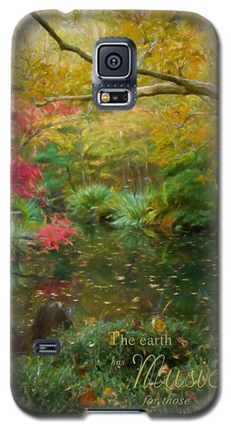 A Fall Afternoon With Message Galaxy S5 Case