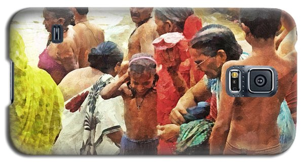 A Family Bathing In The Ganges River Galaxy S5 Case