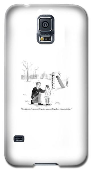 A Father Encourages His Son At The Playground Galaxy S5 Case