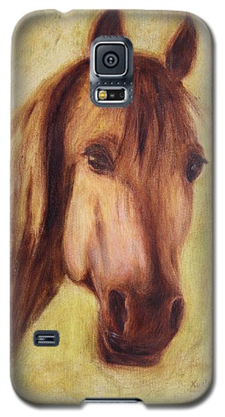 Galaxy S5 Case featuring the painting A Fine Horse by Xueling Zou