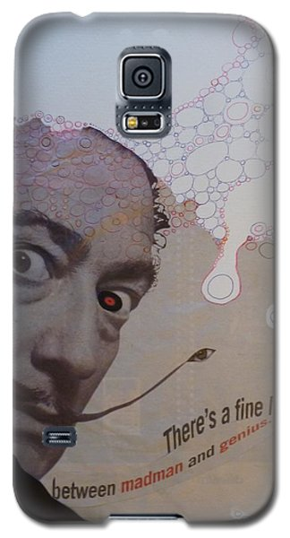 Galaxy S5 Case featuring the mixed media A Fine Line by Douglas Fromm