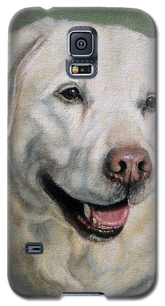 A Fine Old Lady Yellow Labrador Portrait Galaxy S5 Case