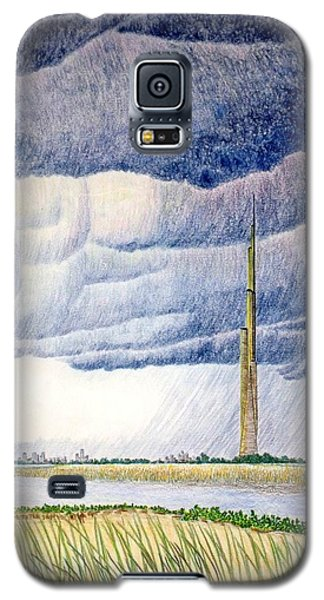 Galaxy S5 Case featuring the painting A Finger To The Sky by A  Robert Malcom
