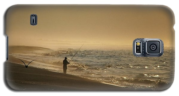 Galaxy S5 Case featuring the photograph A Fisherman's Morning by GJ Blackman