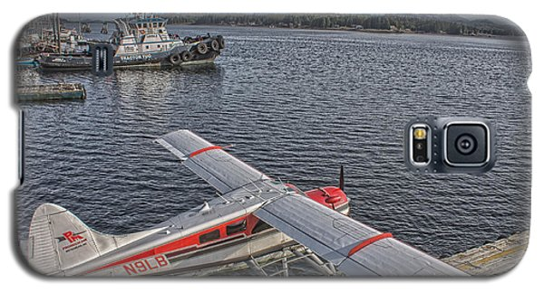 A Float Plane Sits At The Dock In Alaska Galaxy S5 Case by Timothy Latta