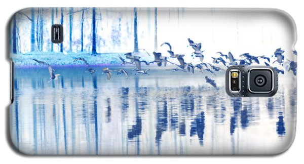 A Flock Of Egrets Galaxy S5 Case by Frank Bright