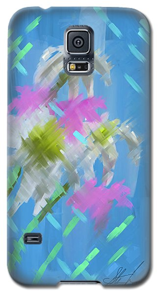Galaxy S5 Case featuring the painting A Focus On Flowers by Steven Lebron Langston