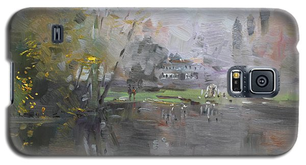 Georgetown Galaxy S5 Case - A Foggy Fall Day By The Pond  by Ylli Haruni