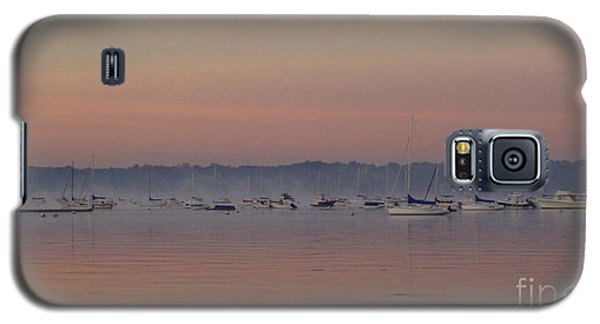 Galaxy S5 Case featuring the photograph A Foggy Fishing Day by John Telfer