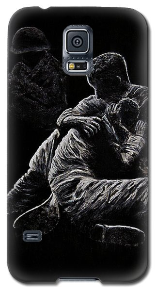 Galaxy S5 Case featuring the painting My Friend Killed In Korean War by Bob Johnston